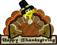 Happy Thanksgiving pilgrim turkey-Thanksgiving turkey Happy Thanksgiving machine embroidery turkey embroidery Thanksgiving embroidery Holiday embroidery pilgrim turkey pilgrim
