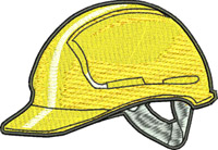 Hard hat-Hard hat, yellow hat, construction worker hat, gear hat, machine embroidery