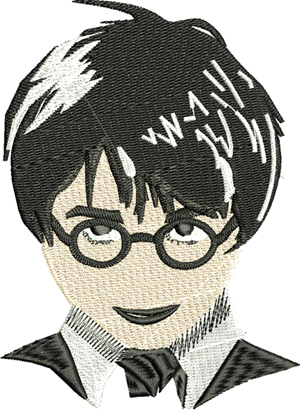 Harry Potter Bust-Harry Potter, embroidery designs, movie embroidery, machine embroidery, embroidery designs