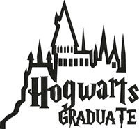 Hogwarts Graduate-Hogwarts, graduate, machine embroidery, harry, potter, embroidery, designs,