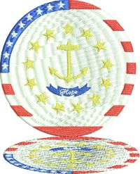 Hope Reflected Plate-USA HOPE STARS AND STRIPES DINNER PLATE DISPLAY PLATE COUNTRYSTITCHEDINFAITH.COM