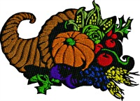 Horn of Plenty-Machine embroidery horn of plenty thanksgiving designs fall designs holiday embroidery fall embroidery stitchedinfaith.com