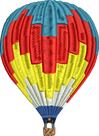 Hot air balloon-Hot air balloons, balloons, Hot air, machine embroidery
