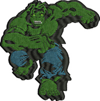 Hulk-Hulk, machine embroidery, embroidery, avengers
