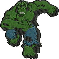Hulk-Hulk, machine embroidery, embroidery, avengers