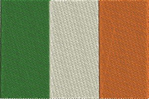 Ireland Flag-IRELAND FLAG MACHINE EMBROIDERY