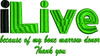 I live because bone marrow donor