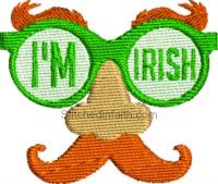 I'm Irish-Im Irish, Irish embroidery, St. Patricks Day, St. Pats day, machine embroidery, Irish eyes, stitchedinfaith.com