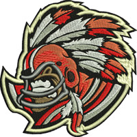 Indians Football-Football, machine embroidery, Indians football,Washington, skins, helmet, football helmet