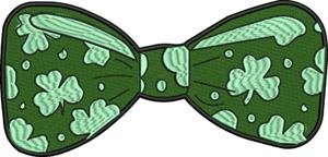 Irish bowtie-Bowtie, Boe tie, machine embroidery,Ireland, Irish tie, neck tie, Irish, St. Patrickss Day