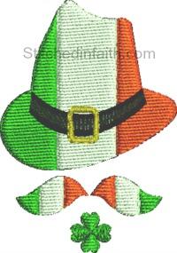 Irish Symbols-Irish symbols, Ireland, St Patricks day, Clover, Irish hat, machine embroidery, machine embroidery designs, embroidery designs, stitchedinfaith.com