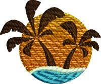 Island Sun-Island embroidery Island fun Island sun embroidery vacations stitchedinfaith.com palm trees beach ocean