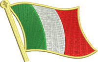 Italian flag pole-Italy,flag, flag pole, Italian,countries,Europe