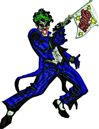 Joker-Joker, Joker machine embroidery, embroidery designs, batman embroidery, machine embroidery,