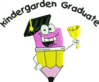 Kindergarden Graduate-Kindergarden machine embroidery Kindergarden graduate graduate school