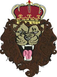 King of the jungle-Lion, machine embroidery, King of the jungle, jungle, King, King lion