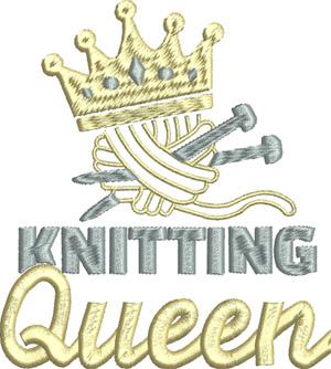 Knitting Queen-Knitting, machine embroidery, queen,sewing, knitter, hobbies