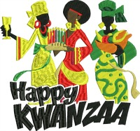 Kwanzaa Girls-Kwanzaa Kwanzaa girls machine embroidery Kwanzaa embroidery