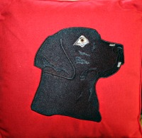 Labrador Embroidered Pillow-pillow labrador dog labrador pillow dog embroidered pillow dog pillows machine embroidery