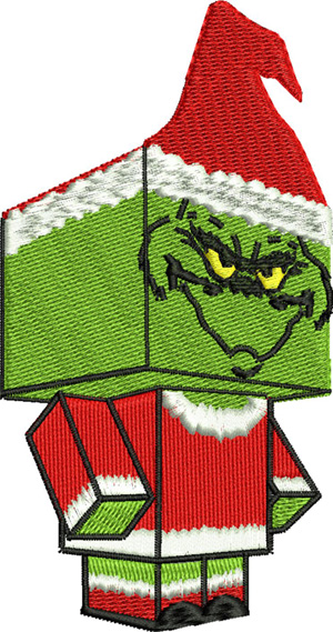 Lego Grinch-CHRISTMAS, LEGO, GRINCH, MACHINE EMBROIDERY, EMBROIDERY, HOLIDAY