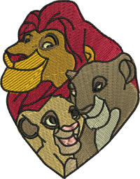 Lion Family-Lion King, Mufasa, Simba, Sarabi, machine embroidery, Lion, King, embroidery