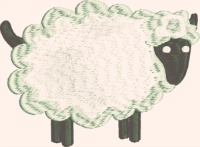 Little Lamb-Lamb little lamb machine embroidery crafts embroidery farm animals stitchedinfaith.com