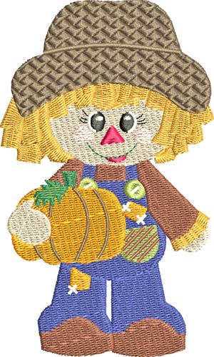 Little Miss Pumpkin-Pumpkin, Pumpkins, Little, Fall, Seasons, Girl, machine embroidery