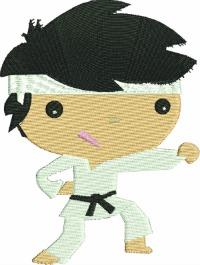 Little boy Karate