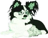 Long hair Chihuahua Dog-Chihuahua Dog machine embroidery long hair chihuahua
