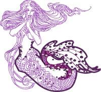 Lovely Mermaid-Mermaid embroidery, Mermaids, Machine embroidery designs, embroidery designs