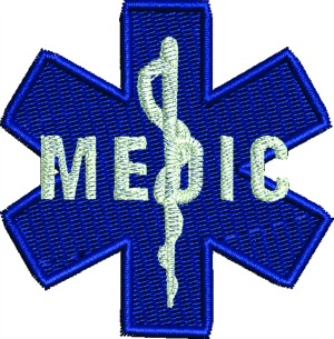 Medic Machine Embroidery Design-MEDIC MACHINE EMBROIDERY DESIGN MEDIC PATCH