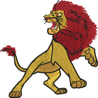 Mafasa-Mafasa, lion king, lion, machine embroidery, embroidery
