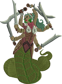 Malilith-Malilith, D  D, characters, game pieces, machine embroidery