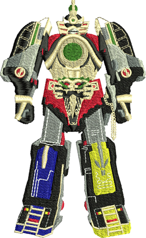 Megazord-Megazord, power, rangers, machine embroidery, childrens embroidery, boys