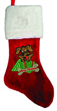 Merry Christmas Doggie Embroidered Christmas Stocking-Christmas stockings dog Christmas stockings embroidered stockings stitchedinfaith.com Doggie stockings