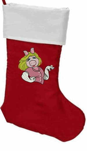 Personalized Miss Piggy Christmas stocking-Miss Piggy, Christmas stockings, personalized stocking, personalized Christmas stocking, Name Free, Christmas