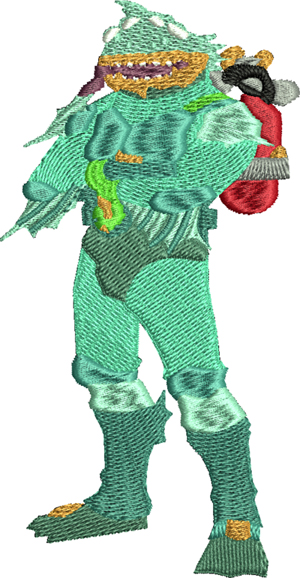 Moisty Merman-Moisty, Merman, games, machine embroidery