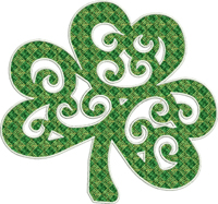 Motif Clover-St. Patricks day, Motif, Clover, machine embroidery, embroidered clover, Ireland, Irish