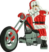 Motorcycle Santa-Motorcycle Santa Christmas embroidery Santa embroidery Motorcycle Christmas Holidays Christmas Biker
