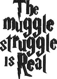 Muggle struggle-Muggle, struggle, machine embroidery, embroidery, harry
