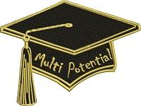 Graduation Cap Multi Potential-Graduation machine embroidery graduation cap. personalized graduation cap embroidery