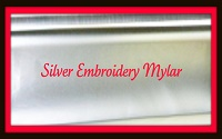 Mylar Silver embroidery sheets