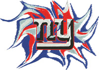 NY-NY, New York,giants, football, machine embroidery