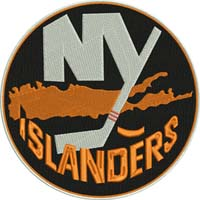 NY Islanders-NY Islanders, machine embroidery, embroidery, hockey, sports embroidery