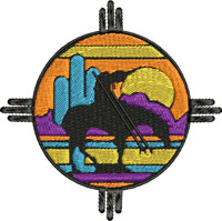 Native American Trail-Native American, machine embroidery, Indian embroidery, American trail,