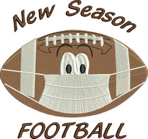 New season football-Football, mask, sports, machine embroidery, virus football, new season, new football
