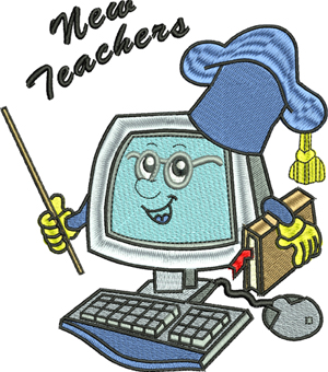 New teachers-Teachers, machine embroidery, school, computer, school year, New teachers, Teacher