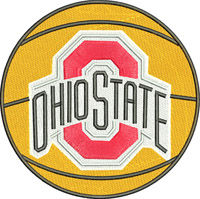 Ohio State-Ohio state, basketball, sports embroidery, machine embroidery