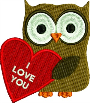 Valentines Owl I Love You-