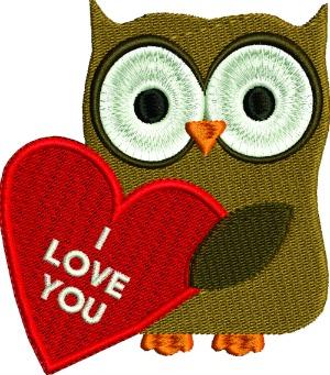 Valentines Owl I Love You